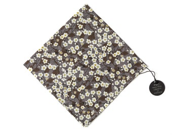 Pomp & Ceremony Pocket Square handkerchief Liberty of London Mitsi (D) Grey