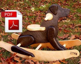 Rocking Black Labrador Retriever Dog DIY Woodworking Plans (Digital Download)