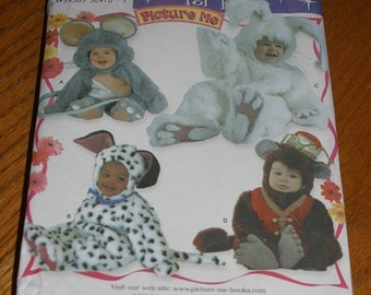 Simplicity 3598 Pattern Picture Me! Costumes for Toddlers Size A (.5 - 4) - new