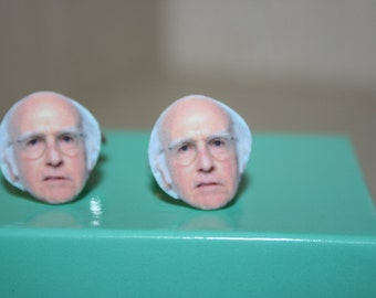 Larry David Cuff Links Seinfeld Curb Your Enthusiasm Celebrity Jewelry Cufflinks, for him, fathers day gift