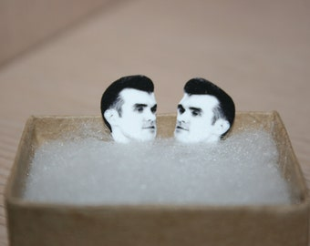 Morrissey The Smiths Celebrity Inspired Post Stud Earrings Jewelry 80's music