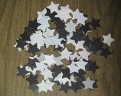 Reclaimed paper confetti stars - black and grey