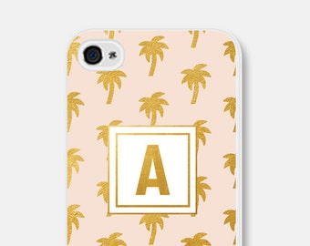 Palm Tree iPhone 6 Case Palm Tree iPhone Case Pink and Gold iPhone 6s Case Palm Tree iPhone 5 Case Tropical iPhone Case iPhone 6 Case