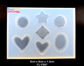 High Quality Soft Mold For Clay / Resin / UV Resin/ Soap from Japan - Accessories/ Charm/ Fake sweets /  bag accessories FL-F047