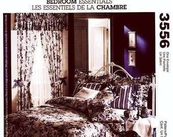 McCall's Home Decor Pattern 3556 - Bedroom Essentials - Duvet Cover & Bedskirt, Window Treatments, Pillows, Pillow Shams or Cases