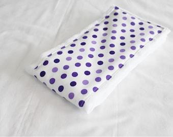 Purple Polka Dots Baby Burp Cloth