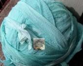 Aquamarine Blue Silk Chiffon Ribbon