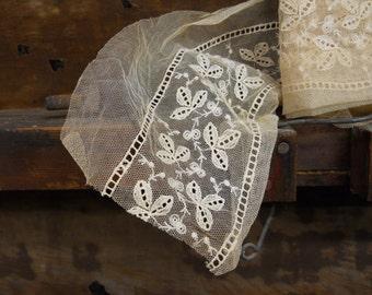 antique point de gaze net trim (by the foot)