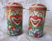 2 vintage CLOWN tins - Cap-tins