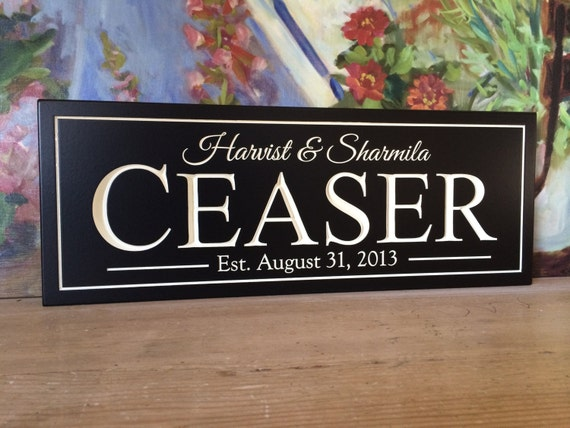 Best Shower Gift, Carved Personalized Couples Name Sign..Wedding  Anniversary, Engraved...8x20 Great Gift for Anyone