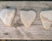 Stone Hearts - Heart Shaped Stones - Natural Stone Heart - Heart Beach Rocks
