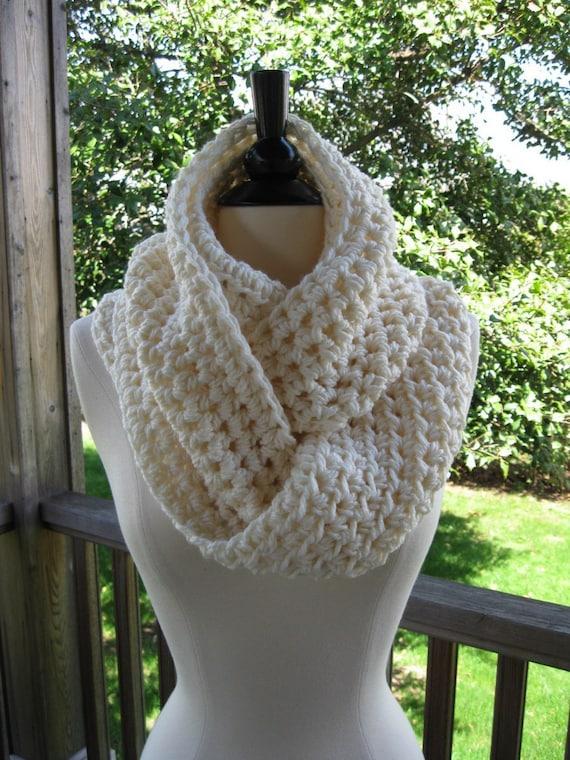 Beginner Crochet Patterns Cowl : CROCHET PATTERN BEGINNER Scarf Cowl Wrap Infinity Handmade