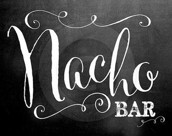 Chalkboard Nacho Bar Collection - 20x30 SIGN