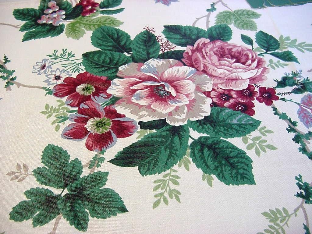 Pleasant Valley Vintage Rose Floral Decorator Fabric