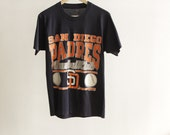 San Diego PADRES BASEBALL 90s super soft t-shirt MENS