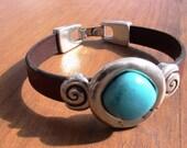 turquoise bracelet, womens bracelets, silver bracelet, leather bracelet, beaded Bracelets, fashion jewelry, accessories, charm Bracelet