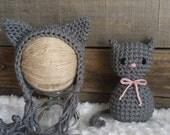Kitten Bonnet Prop Lovie Lovey amigurumi