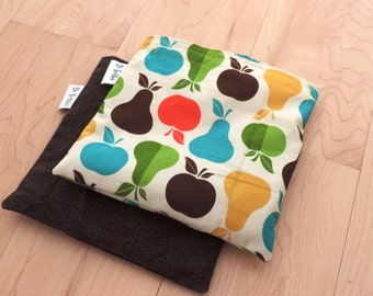 Lg Fruits Set Reusable Snack Sandwich Baggie Bag Set with water resistant lining
