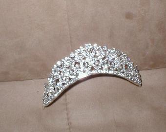 Vintage Rhinestone Bridal Tiara Comb