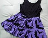 PREORDER - Purple Batty Skater Dress