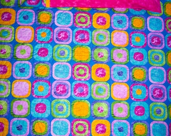 """Timeless.Treasurers  """"Rock Around the Block""""  Nap Set w/Matching Pillowcase- Handmade-Quilted-Made in USA by MJ QuiltFree Shipping"""