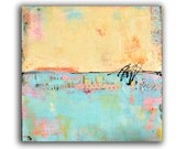 Abstract mixedmedia Painting 30x30 Painting on wood by Erin Ashley