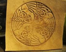 Celtic Birds Round Embossing Die