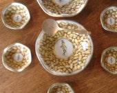 Vintage Mr Peanut Planters serving tin bowls w/serving dishes