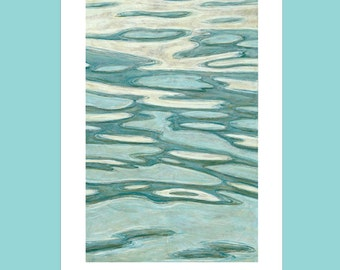 Water Painting Cards - Ocean Note Cards - Water Stationery - Water Note Cards - Liz Brady Artwork - Blank Note Cards