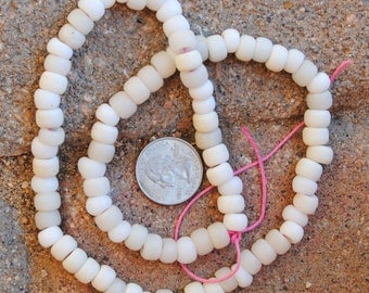 Vintage African Padre Beads: White