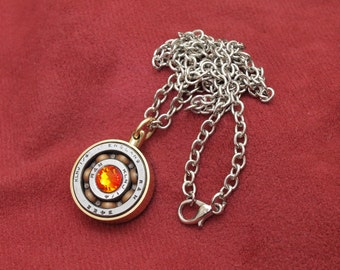 Steampunk roller bearing necklace