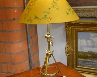The Lacoona Secret Garden lamp - an antique Pullman lamp meets a contemporary Chinoiserie inspired lampshade