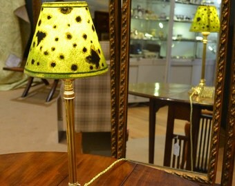 Lacoona Rhytisma  - the unexpected beauty, an early 20th c French lamp paired with a contemporary hand painted shade