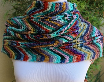 Pattern Only The Story of My Stash Chevrons and Lace Shawlette Scarf Afghan or Table Runner