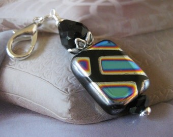 Dichroic Zipper Pull & Purse Charm