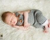 Newborn Overalls, Baby Overalls, Crochet Overalls, Infant Overalls, Photo Prop Overalls, Knit Overalls, Newborn Photo Prop, Boy Overalls