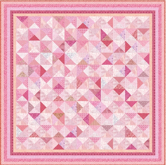 """PINK TUTU - 82"""" x 82"""" or 67"""" x 67"""" - Quilt-Addicts Pre-cut Patchwork Kit or Finished Queen or Double size"""