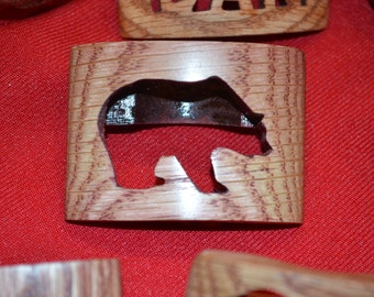 Wood Badge Bear Boy Scout  Neckerchief Slide also Called a Woggle
