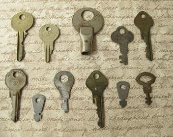 Vintage Skeleton Keys, Collection, Metal
