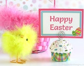Easter Plaid Mini Cupcake Photo Note Holder  #CUP225
