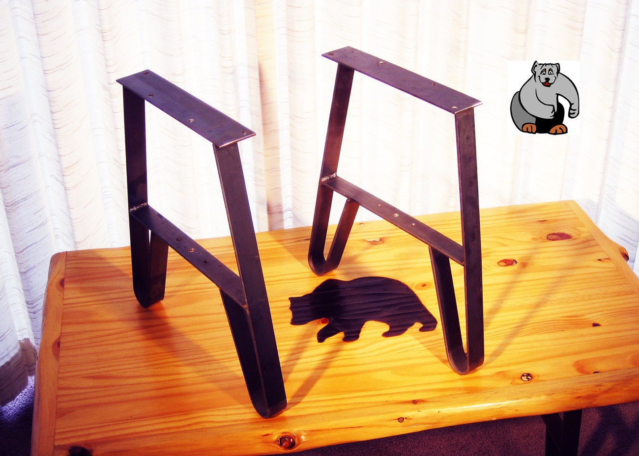 Metal coffee table leg use on end tables tv stands and for What to use for table legs