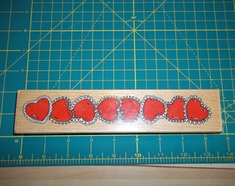Heart Shape Rubber Stamp by Sugar Loaf Products