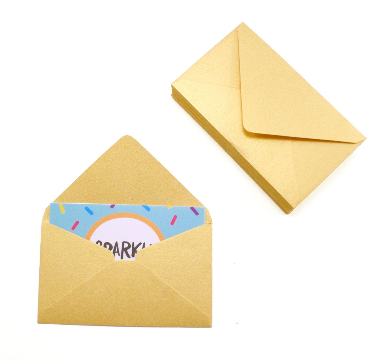Business card envelopes 25 gold shimmer envelopes 2 1 8 x