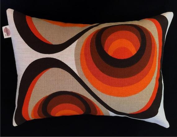 Danish Modern Pillow Cover 1960s Mod Boho Oranges