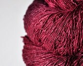 Overripe raspberry - Tussah Silk Fingering Yarn