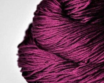 Burning red fuchsia - Silk  Fingering Yarn - knotty skein