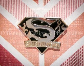 Sale - Lot of 5 Survivor Black Ribbon Melanoma Survivor Lapel Pins