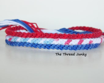 Patriotic Friendship Bracelet Set-Ready to Ship-