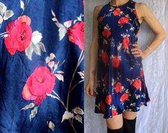Vintage 90s Floral Babydoll / Mod Dress