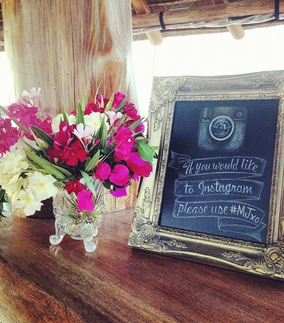 TABLE TOP CHALKBOARD Standing Chalkboard Gold Wedding Decor Dessert Menu Sign Wedding Sign Bride Engagement Gift